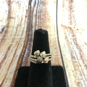 Sterling silver and 10k Black Hills Gold Ring